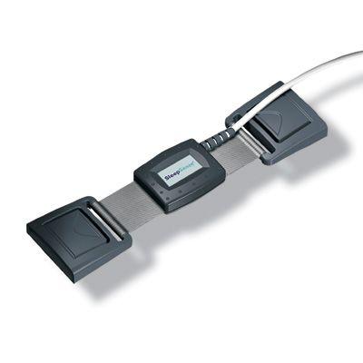 Sensor de respiración pectoral/abdominal piezocristal