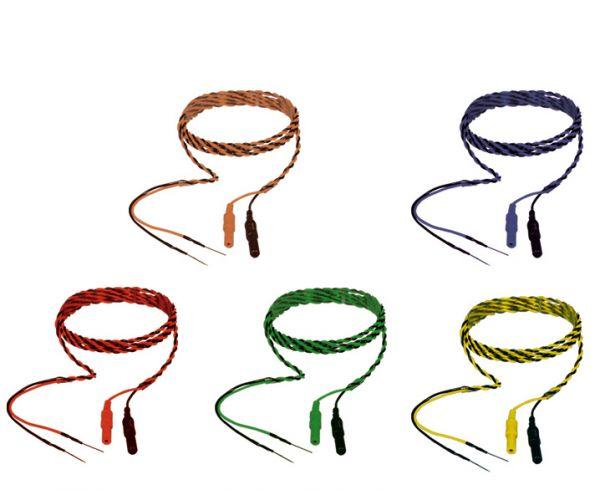 Electrodo de aguja subdérmica de 18 mm - Cable trenzado de 2 hilos