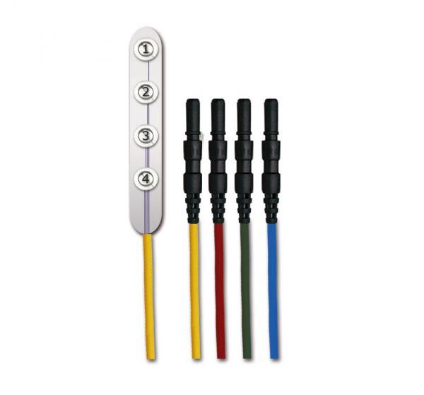 Electrodo de líneas IOM con conectores DIN de 1,5 mm.